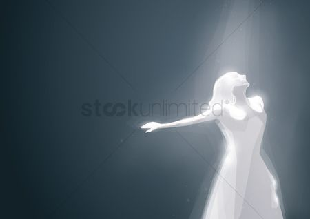 Lighting : Artwork of a woman dancing