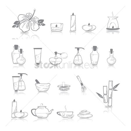 Teapot : Assorted spa icons
