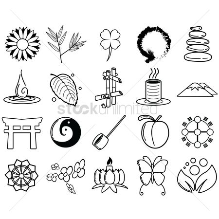 Zen : Assorted zen icon set