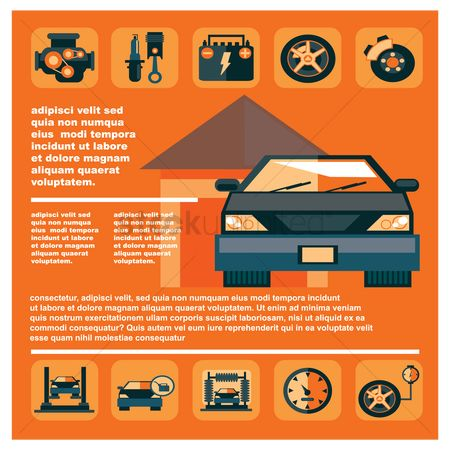 Car speedometer : Automotive infographic