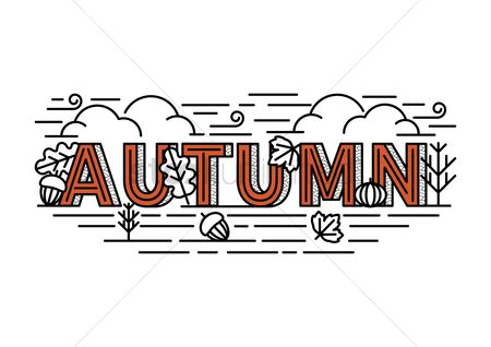 Typographics : Autumn lettering design