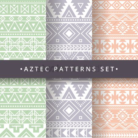 Wallpaper : Aztec background design set