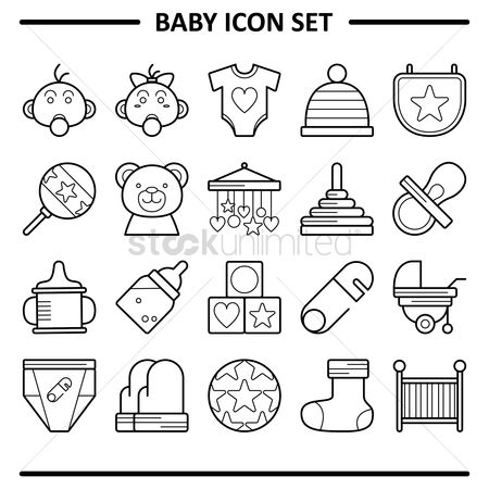 Teddybears : Baby icon set