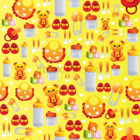 Teddybear : Baby items background