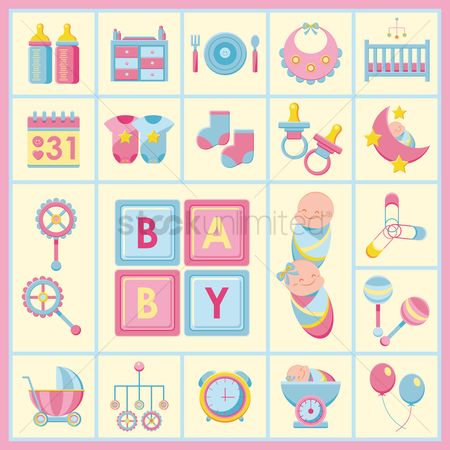 Sock : Baby products icons