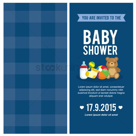 Sock : Baby shower invitation