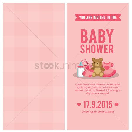 Teddybear : Baby shower invitation