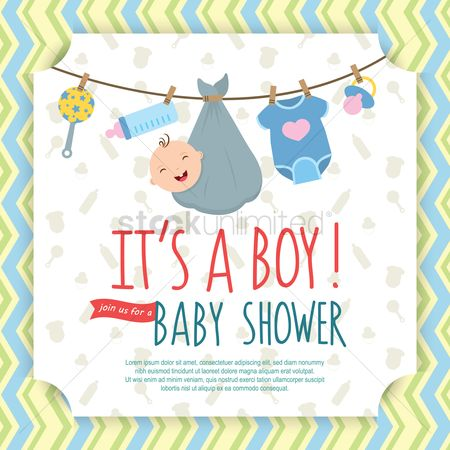 Babies : Baby shower invitation