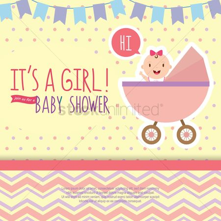 Love speech bubble : Baby shower invitation