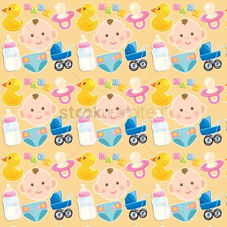 Duck : Baby theme background