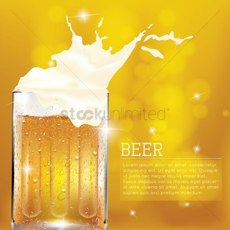Beer : Background with beer