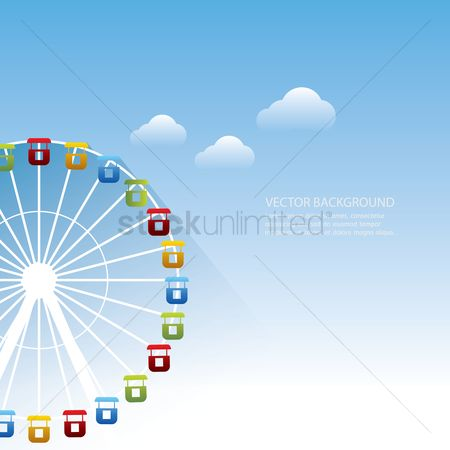Funfair : Background with ferris wheel