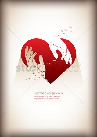 Heart shape : Background with heart donation
