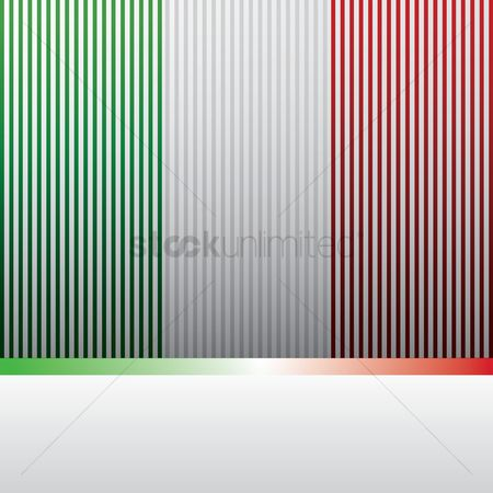Tricolored : Background with italy flag