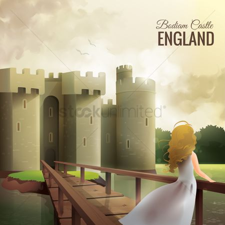 England : Badian castle wallpaper