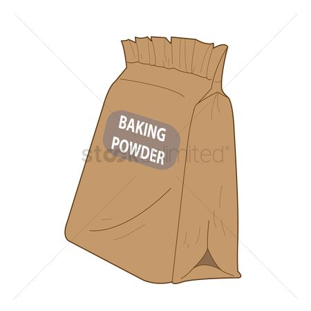 Flour : Bag of baking powder
