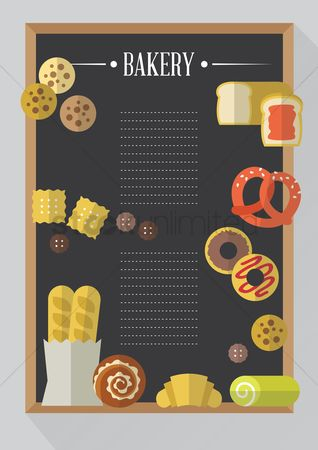 Biscuit : Bakery menu card