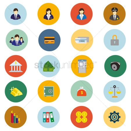 Common balance : Banking icons