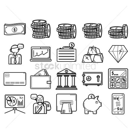 Piggy banks : Banking icons