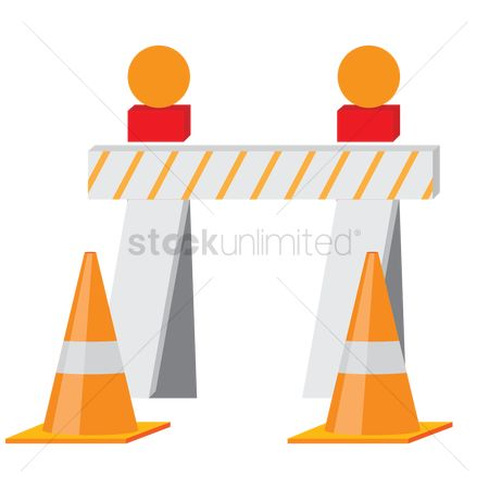 Barrier : Barriers and traffic cones