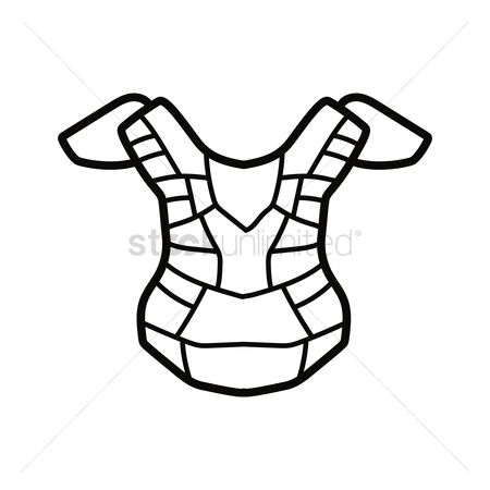 Free Baseball Catcher Chest Protector Stock Vectors Stockunlimited