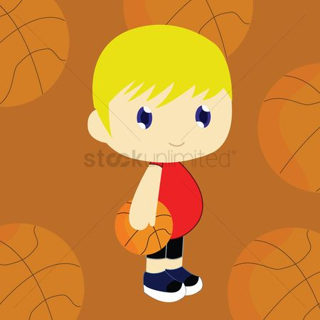 Play kids : Basketball player