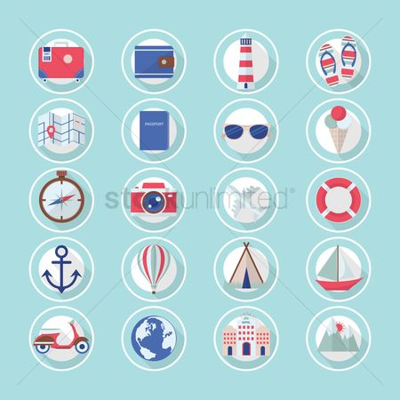 Lighthouses : Beach icons