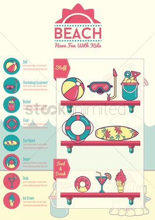 Cream : Beach infographic