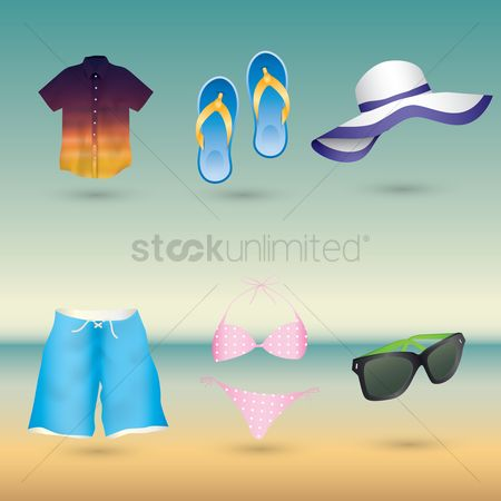 Slippers : Beach theme set