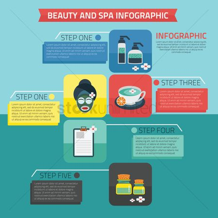 Aroma : Beauty and spa infographic