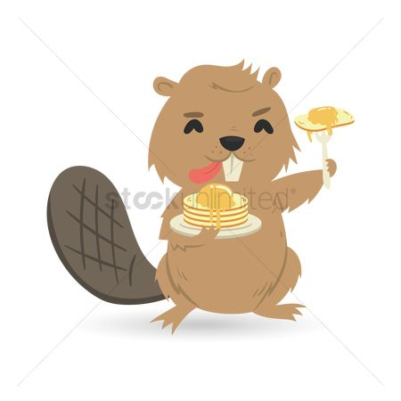 Hotcake : Beaver with pancake