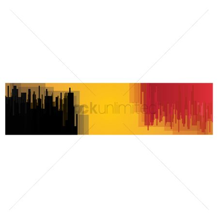 Tricolored : Belgium flag banner