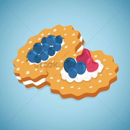 Biscuit : Berries on biscuits