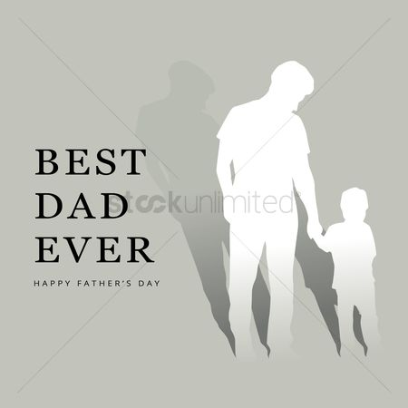 Thankful : Best dad ever greeting design