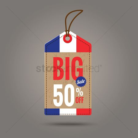 Tricolored : Big sale tag