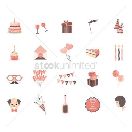 Open : Birthday icons