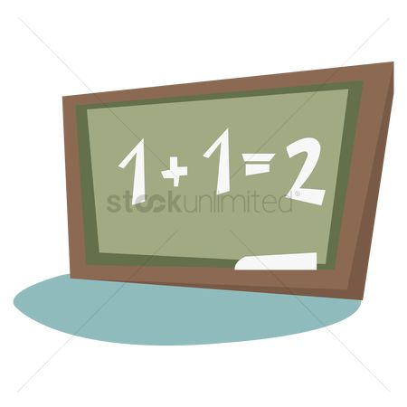 Math : Black board with maths equation