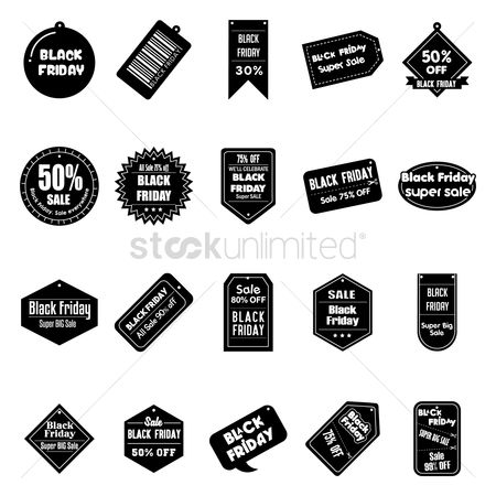 Commercials : Black friday sale tags collection
