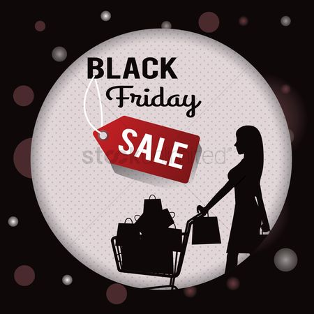 Shopping background : Black friday sale wallpaper