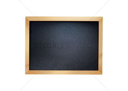 Wooden sign : Blackboard