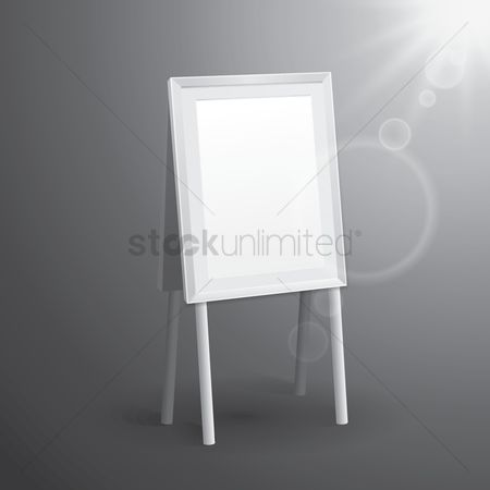 Whiteboard : Blank bill board