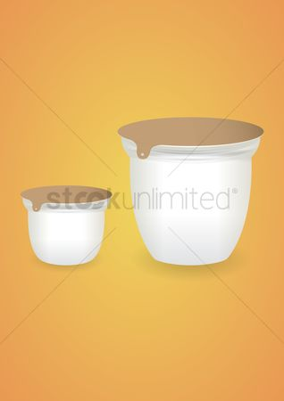 Jar : Blank yogurt cup