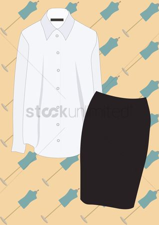Skirt : Blouse and skirt