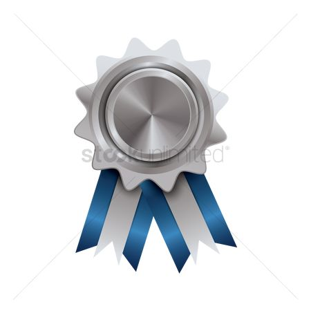 Silver : Blue and silver badge design