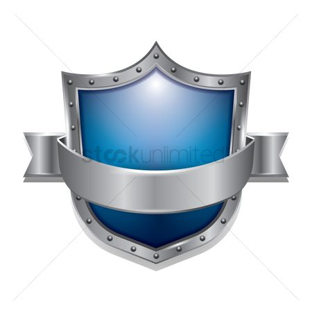 Silver : Blue shield emblem