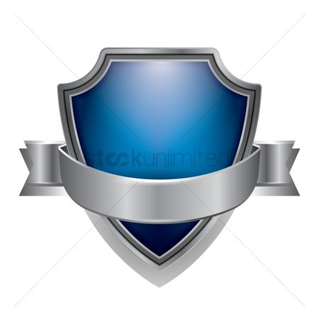 Shield : Blue shield emblem