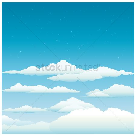 Clears : Blue sky with clouds