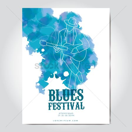 Musicals : Blues festival poster