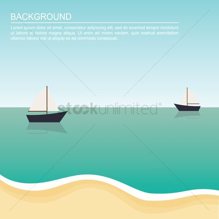 Sail : Boats on beach background