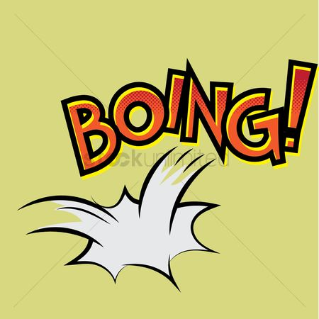 Onomatopoeia : Boing text with comic effect